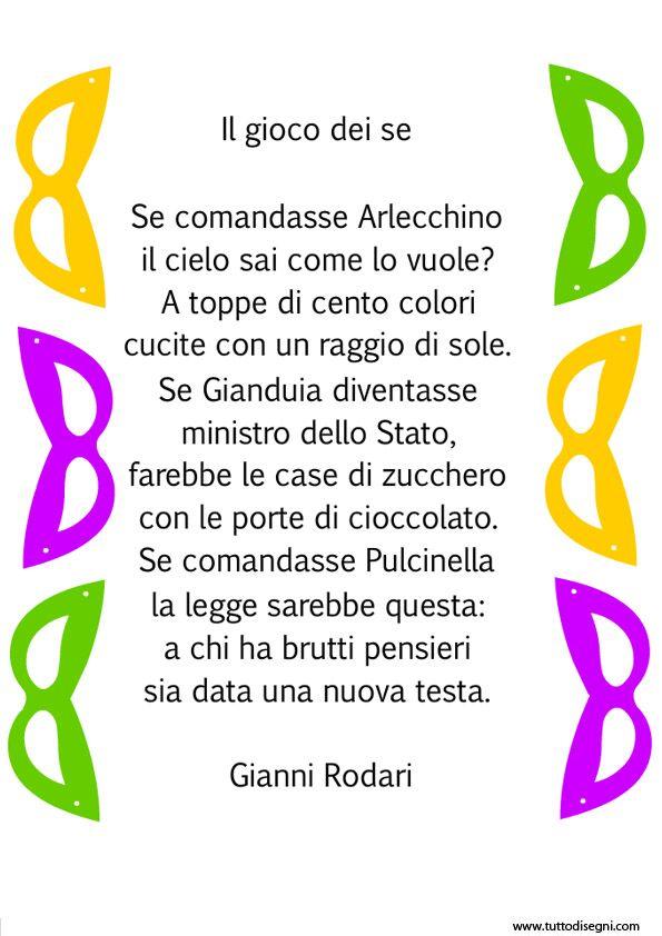 Filastrocca sul Carnevale di Gianni Rodari