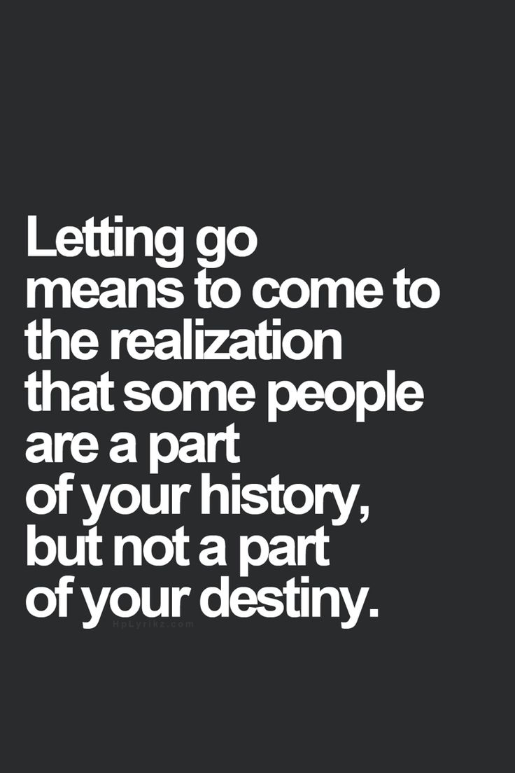 Time to let go....