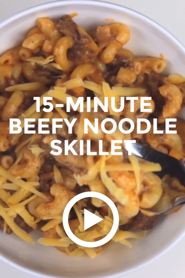 15 Minute Beef And Noodles Skillet Video Beef Recipes For Dinner Ground Beef Recipes For Dinner Beef And Noodles