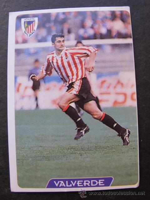 Cromo Valverde Athletic de Bilbao coleccion mundicromo las fichas de la liga 95 / 96 numero 141