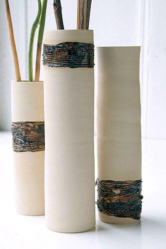 Vasen, weiß