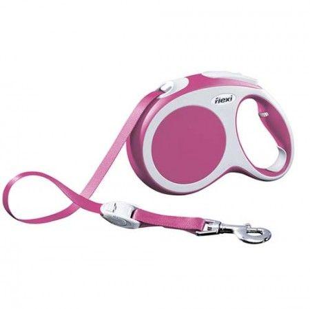 Flexi Vario tape large pink 5 meter - Flexi dog lead Flexi L large - globaldogshop.com