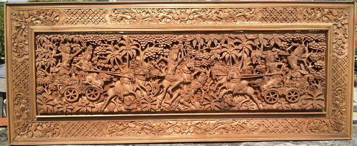 AKSESORIS INTERIOR EXCLUSIVE untuk RUMAH & KANTOR Another carving of a Bharatayudha warscene