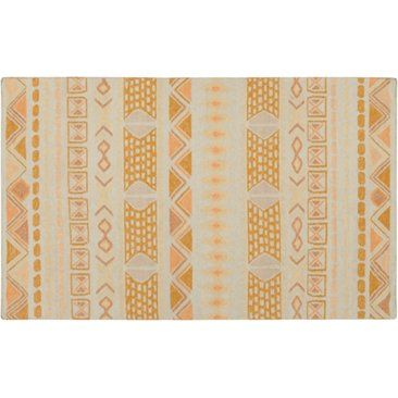 Check out this item at One Kings Lane! Valles Flat-Weave Rug, Gold