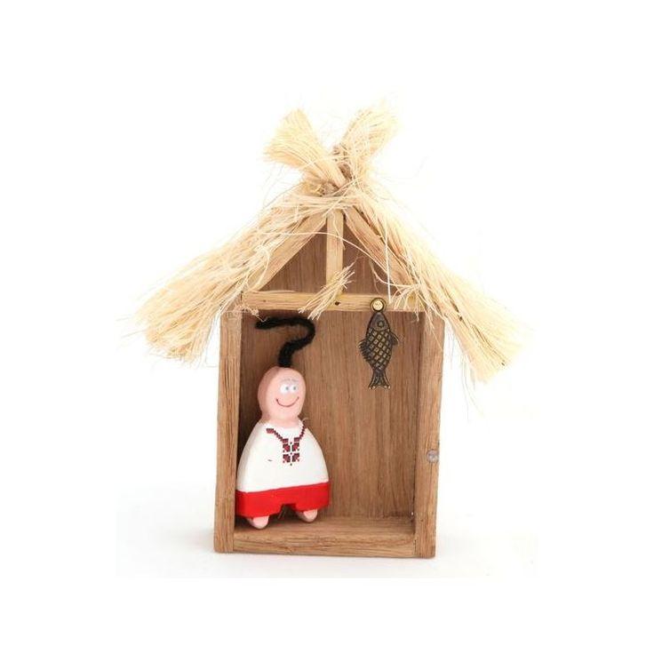Farm Boy in Wooden Shed Magnet