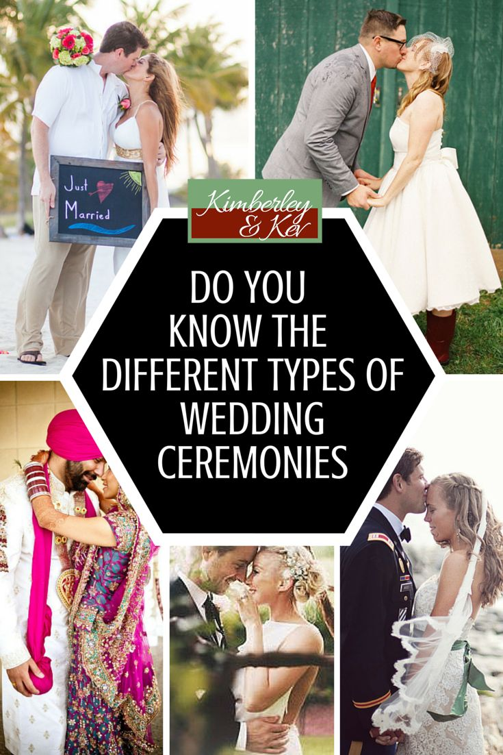 To make sure you know all of your options, we've listed some of the common types of wedding ceremonies. - See more at: http://www.kimberleyandkev.com/know-different-types-wedding-ceremonies/#sthash.0XlFTq5C.dpuf