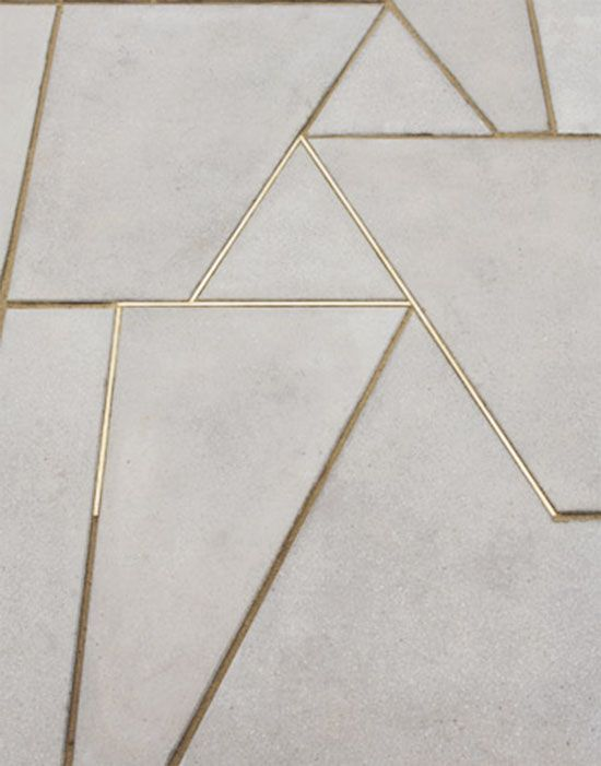 Concrete flooring (via This is Glamorous)