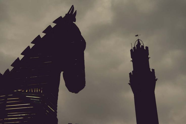 Cavallo di Troia, Contrada Capitana dell'Onda #FLAO #Siena #Italy