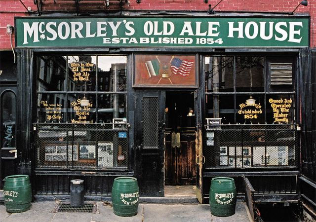 McSorley's Old Ale House, Manhattan. Photo by James and Karla Murray. NYC's oldest continuously operated saloon. Visited by Abe Lincoln, Woody Guthrie, John Lennon, and me & John!