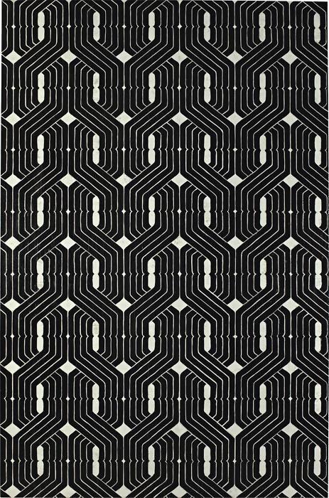 GREGOR HILDEBRANDT    Wenn ich mit was Wünschen dürfte [M.D. auf Omas Tapete], 2008 Cassette tape and acrylic on canvas. 943/4 x 621/4 in. (240.7 x 158.1cm).