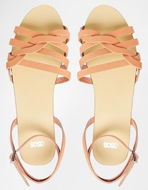 ASOS FULLER Woven Two Part Sandals