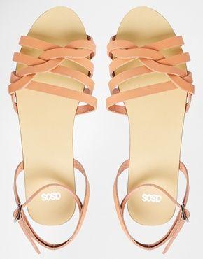 Bild 3 von ASOS – FULLER – Gewebte zweiteilige Sandalen