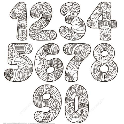 Zentangle Numbers Set 0 9 Ausmalbilder aus der Kategorie Zentangle Numbers. Wählen …