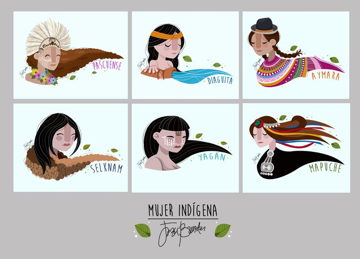 "Jezu Bunster Illustrations & Design ""Mujer Indígena"" Personal Proyect"