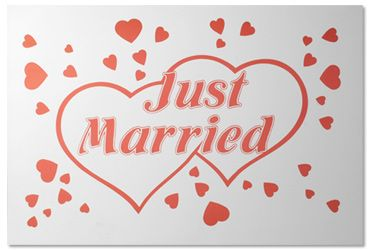 Just Married-kyltti