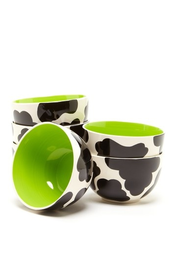 Super cute cow print ice cream bowls!!! 6 for only $20!