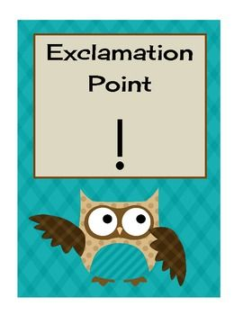 free---Owl punctuation posters