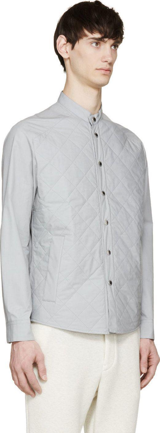 Umit Benan Grey Quilted Jacket