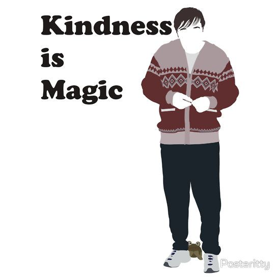 """Netflix-series - Derek played and written by Ricky Gervais.  As Derek says it: """"Kindness is Magic"""""""