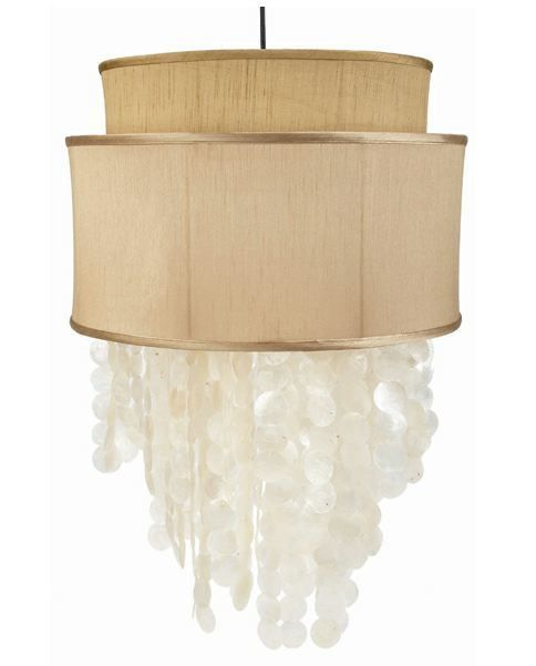 Old World Capiz Shell Drum Chandelier How I Want My House Pintere