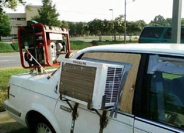 Wie man auch in einem alten Auto zu einer Klimaanlage kommt
