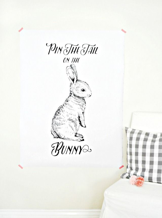 Free Printable Pin The Tail On The Bunny | Kids Easter Activities | MyFabulessLife.com