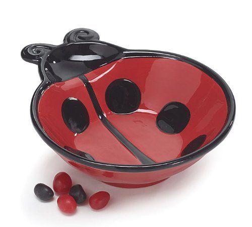 Ladybug 7 1 2 D Serving Bowl Adorable Ladybug Kitchen Decor By Burton