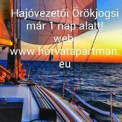 Hajózzon a Tengeren!  Év végi Gyorsitott Tengeri  Hajóvezetöi tanfolyamok,egy nap alatt Örökjogositványt szerezhet Zadarban Nálunk!  Örök, Tengeri és Édesvizi,Nemzetközi Jogositvány! 400 Euro/fő.Akció! Akár 40%-al is olcsóbbban Most! Most Akár 40% kedvezménnyel!!!  Közvetlen információ a profilomon :    a link : www.facebook.com/zadarkiadoapartmanokraczattila  Honlap www.horvatapartman.eu