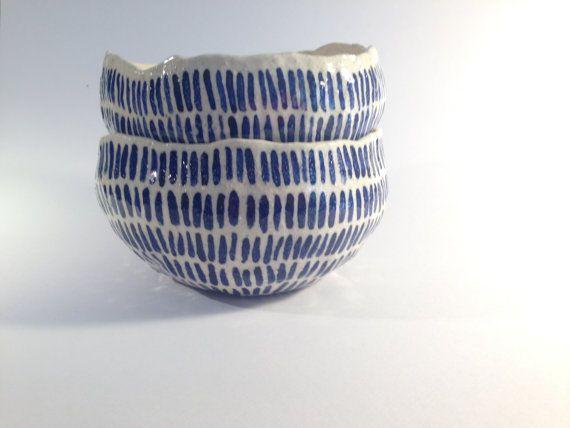 hand formed serving bowls by JeltjeCeramics on Etsy