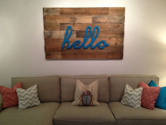 Pallet Wall Art by CarvedWoodworks on Etsy, $400.00