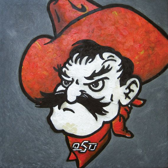 """Pistoleer #7""  10""x10"" $15 A portrait of Pistol Pete. Your favorite cowboy and mine.  By Jeff Mitchell"