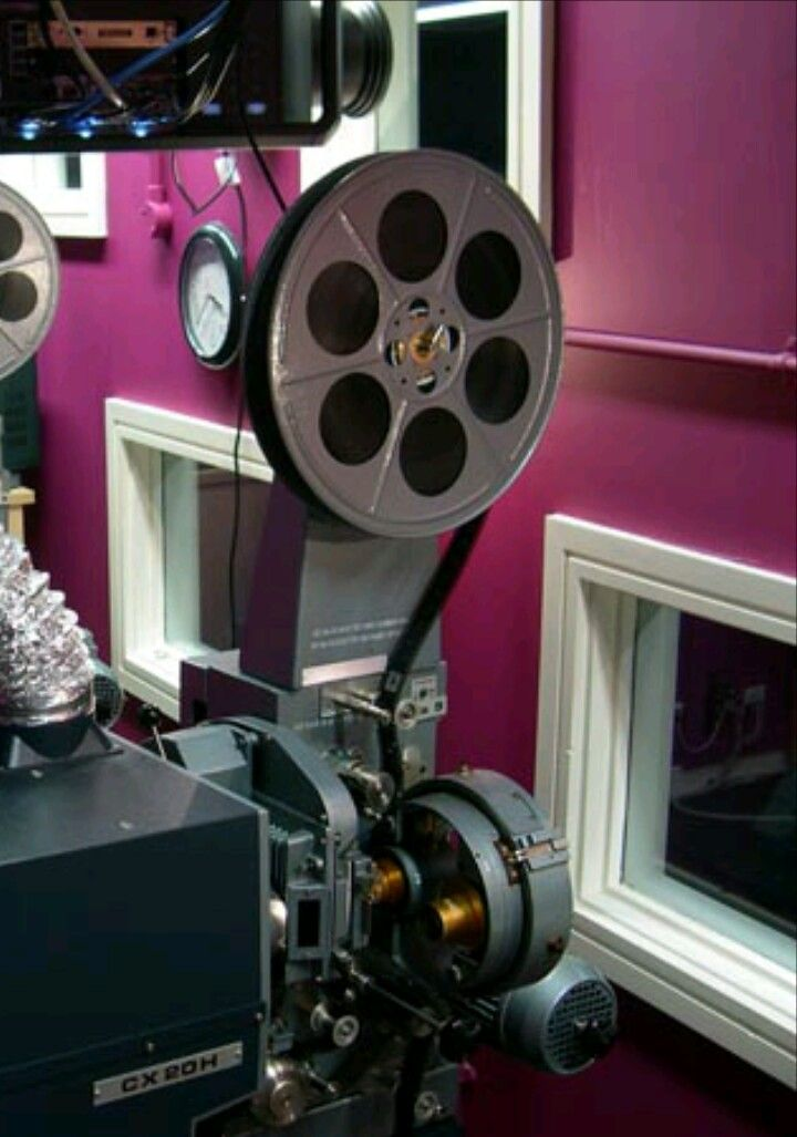 Cinema projection room projector