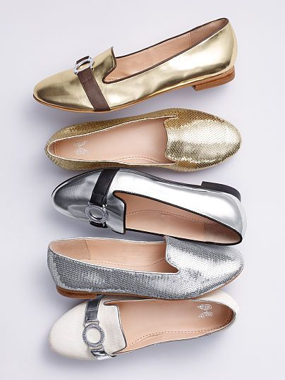 Beautiful metallic loafers - on sale for $29.99-$39.99! http://rstyle.me/n/fad28nyg6