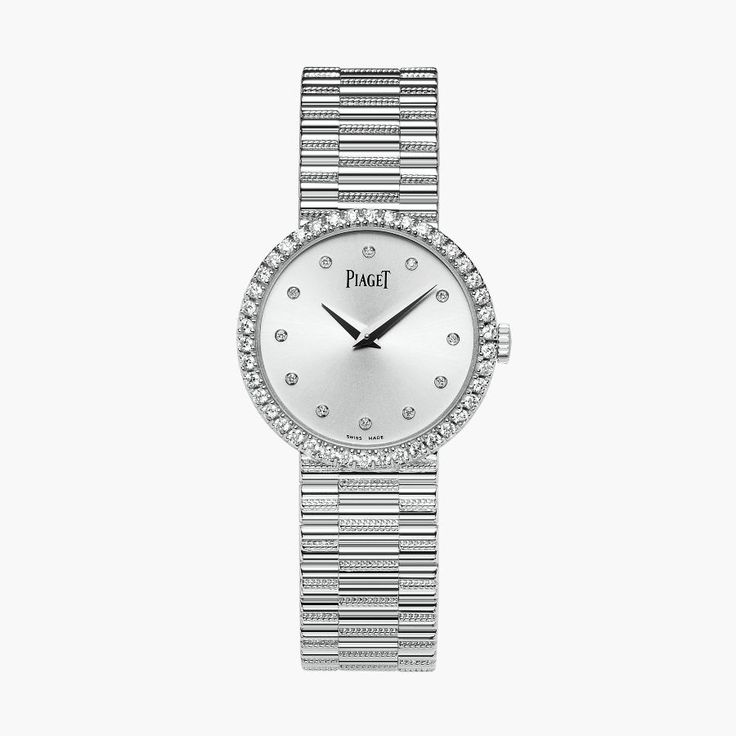 Discover Traditional watch: ultra-thin mechanical watch in white gold, diamond - G0A37041 luxury watch on Piaget US online watch store.