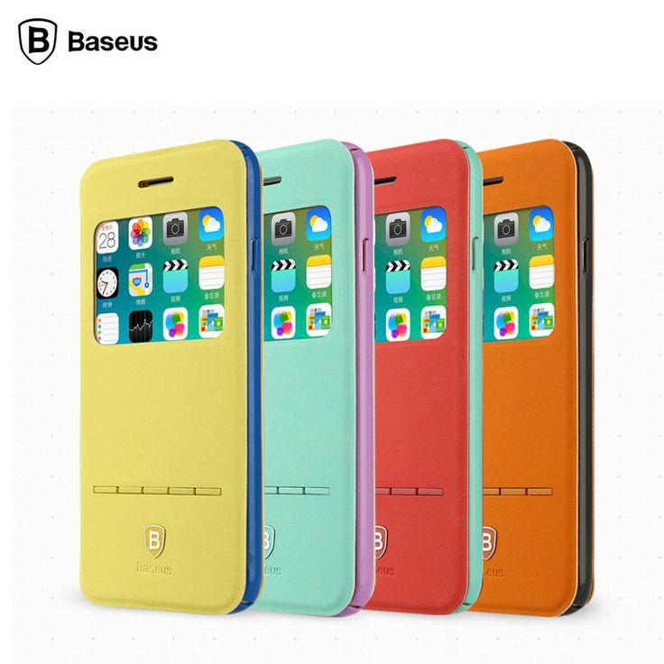 Купить Baseus кожи ультратонкий флип чехол для iphone 6 плюс 5.5 '' всего тела защитить книга стиль для Apple , 6 s плюс бумажники другие товары категории Сумки и чехлы для телефоновв магазине Baseus Flagship StoreнаAliExpress. случае кольцо и чехол для apple iphone 4