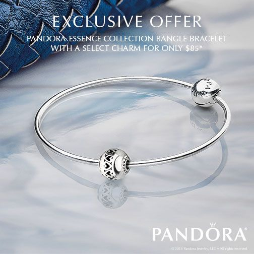 Make a subtle statement of style with the PANDORA ESSENCE COLLECTION. From now until August 31st, pick up an ESSENCE bangle and a choice of select ESSENCE charm for $85 - a $110 value! Click for full details: http://go.pandora.net/2bIDZ6A