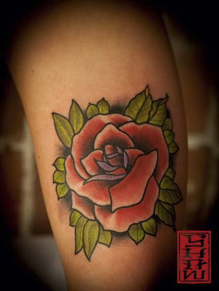 Tattoo by Stephen Shaw Rose tattoo #rosetattoo