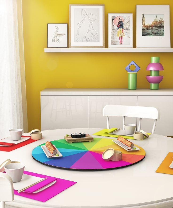 #polidor turntables and #lefalstaff jar and #lacoupole pot in a #diningroom setting, design Elena Cutolo for #altreforme #festamobile #amoveablefeast #interior #home #decor #homedecor #furniture #aluminium #woweffect #madeinItaly