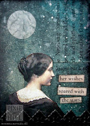 """Her Wishes Soared"": a beautiful Artist Trading Card by Knickertwist."