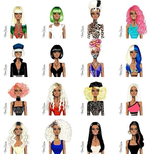 Nicki Minaj Style Evolution #NickiMinaj #FashionIllustration #NickiMinajStyleEvolution Please tag her below⬇️ @nickiminaj