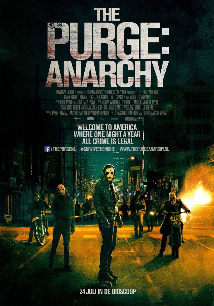 The Purge: Anarchy (2014) One of the few times when the sequel is better than the first.
