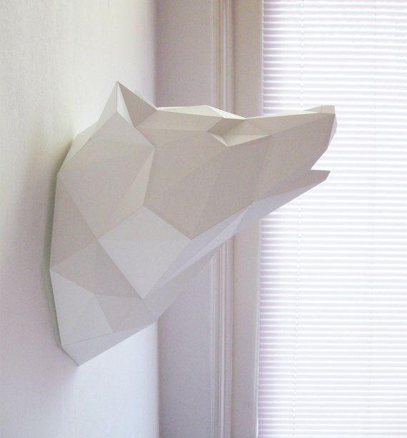 Paper Wolf Folding Kit Pre-order von AssembliShop auf Etsy