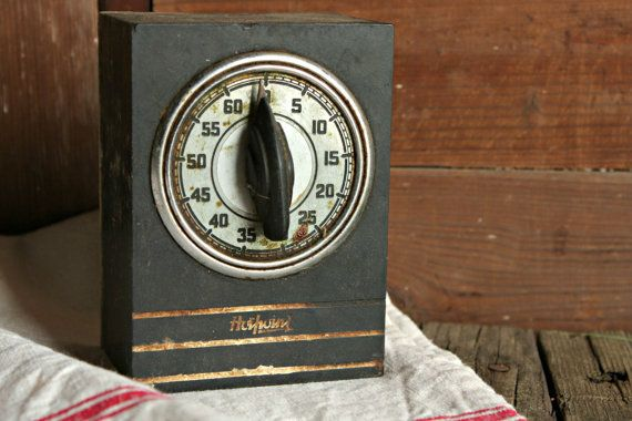 Vintage Kitchen Timer Industrial Timer by OurVintageBungalow