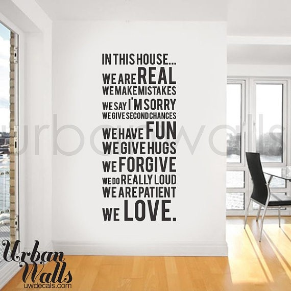 Cool family wall sayings vinyl wall stickerswall