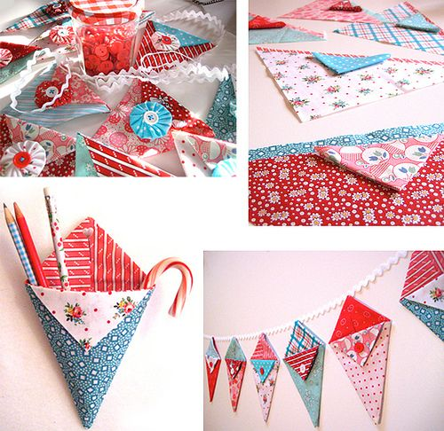 pocket pennant- this would also be cute at Christmas, as an advent calendar of sorts