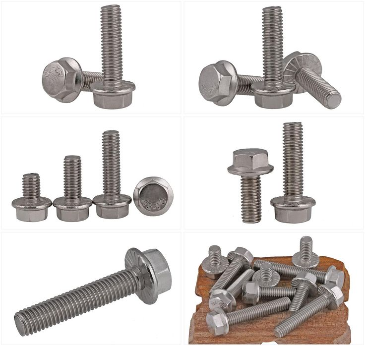 [Visit to Buy] GB5789 304 stainless steel screw Flange hexagon screws with flange bolt M5 M6 M8 screw with teeth loose #Advertisement