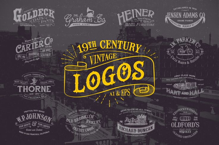 19th Century Vintage Logos by Victor Barac on ...