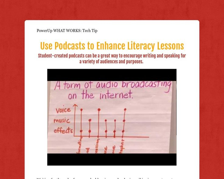 Use Podcasts to Enhance Literacy Lessons