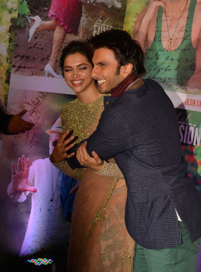 Deepika Padukone and Ranveer Singh at the success bash of Finding Fanny