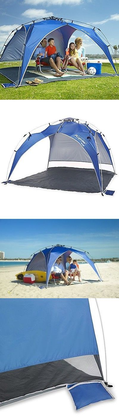 Canopies and Shelters 179011: Portable Outdoors Quick Sun Shade Camping Shelter Compact Beach Canopy Tent Blue BUY IT NOW ONLY: $129.99